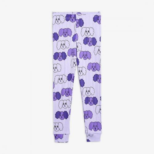 Cute Purple Cotton Leggings