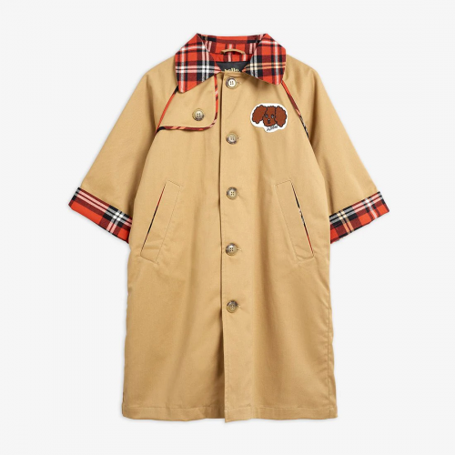 Beige Trenchcoat with Dog Patch