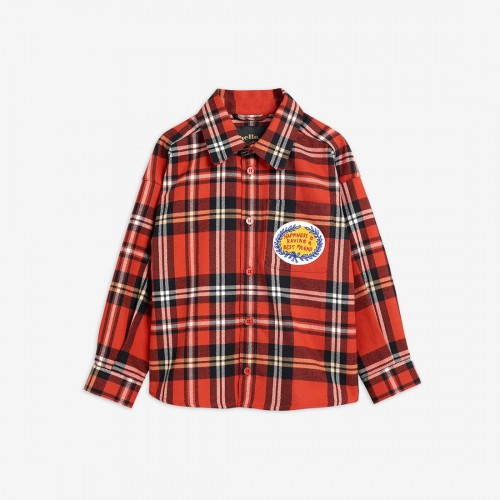 Stylish Red Check Shirt