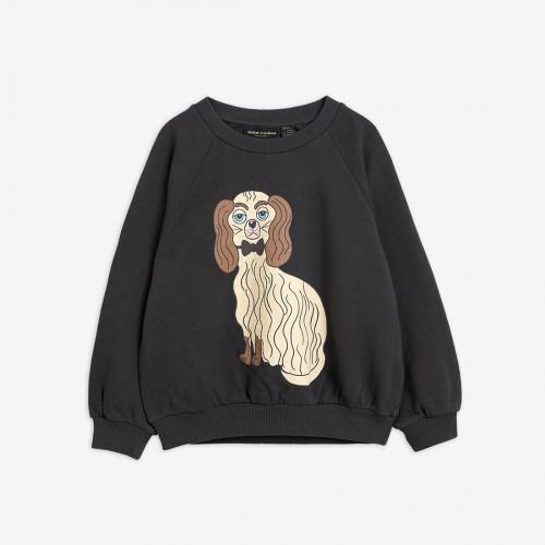 Grey Sweatshirt with Dashing Dog Print