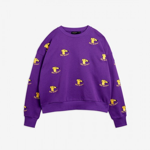 Purple Green Adult Sweatshirt