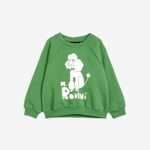 Green Sweatshirt with Poodle Print