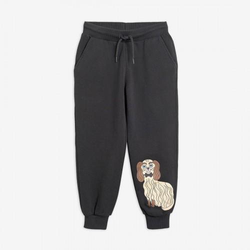 Grey Sweatpants with Dashing Dog Print