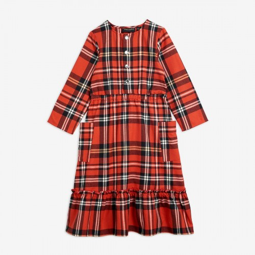 Red Check Woven Flannel Dress
