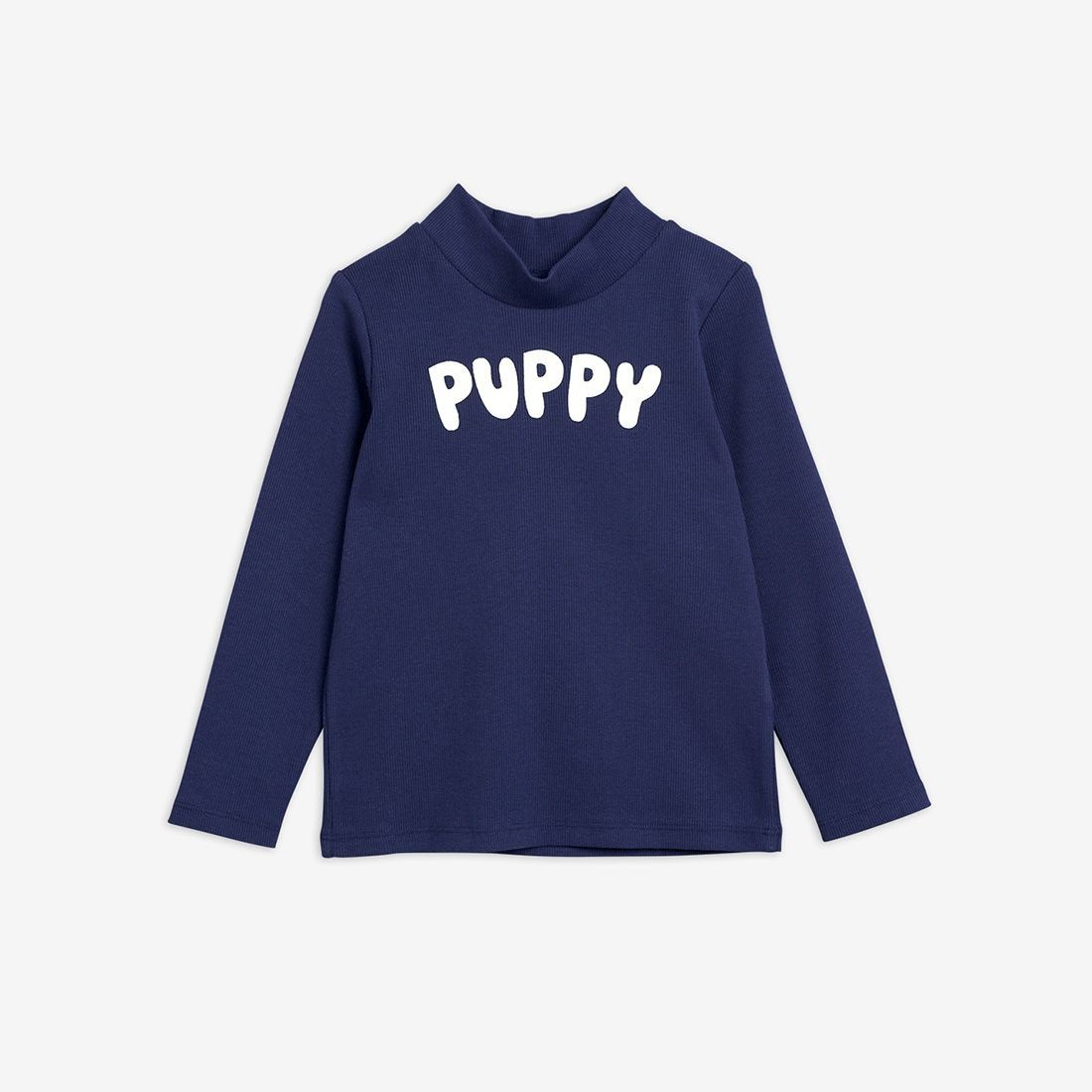 Navy Shirt with Big Puppy Print