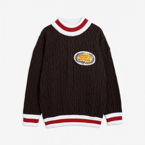 Wool Brown Knitted Sweater