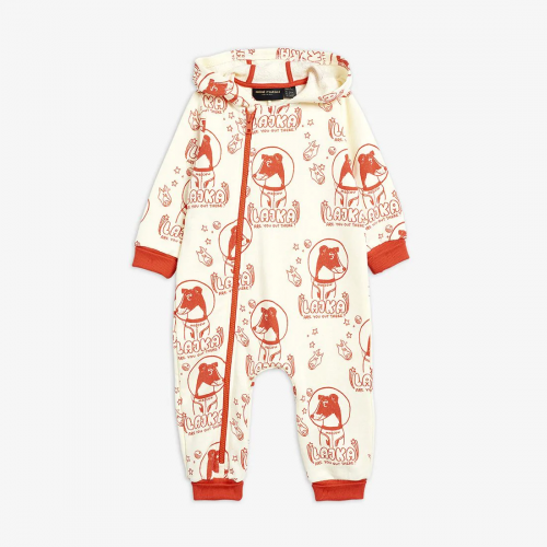 Off White Onesie with All Over Print