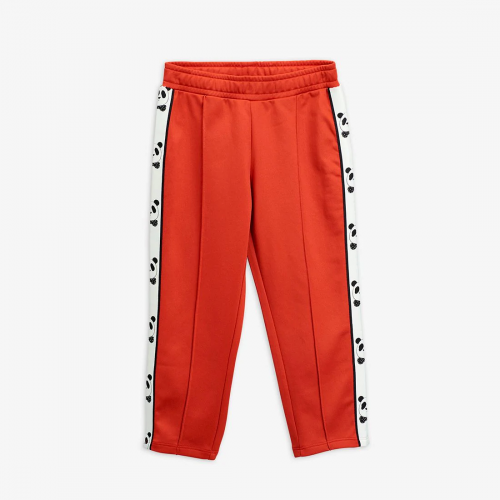 Panda Retro Track Pants in Red