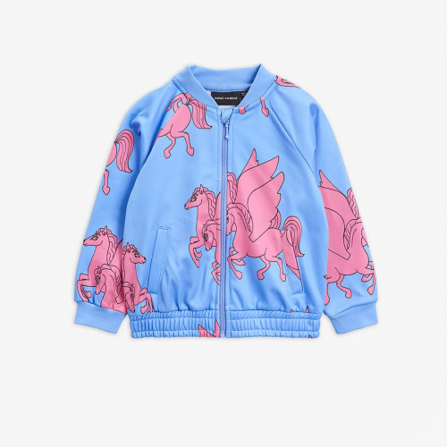 Blue Tracksuit Jacket with Pegasus Print
