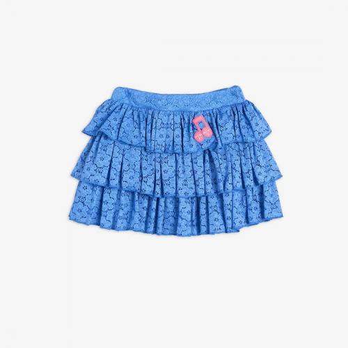 Elegant Lace Skirt in Blue