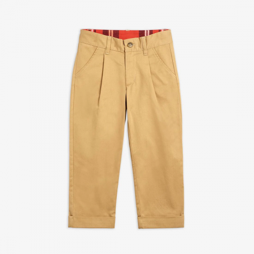 Beige Chinos with Dog Patch