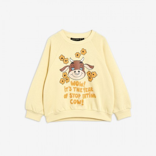 Comfy Yellow Cotton Sweatshirt