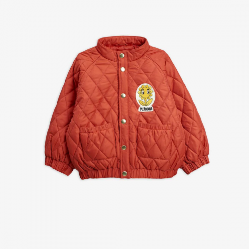 Classic Quilted Jacket in Red