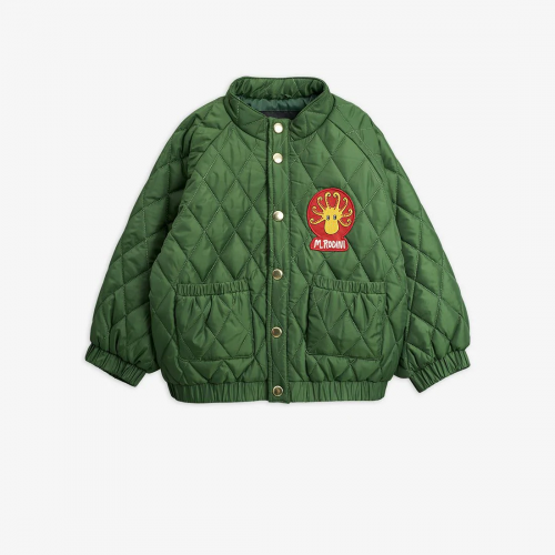 Elegant Quilted Jacket in Green