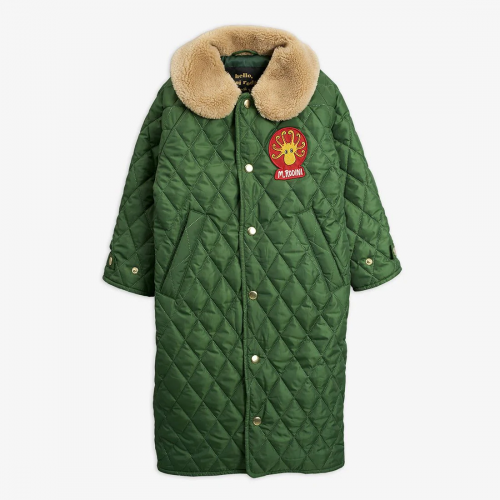 Green Quilted Coat for Cool-Kids