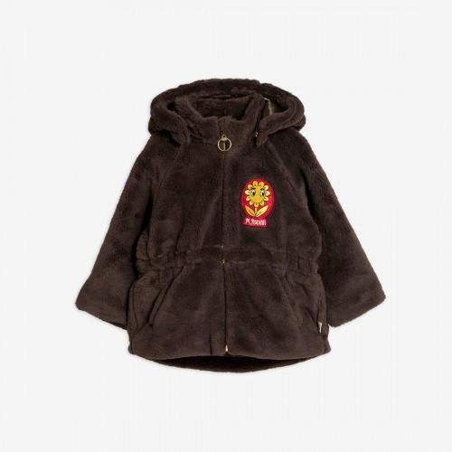 Soft Brown Jacket in Faux Fur