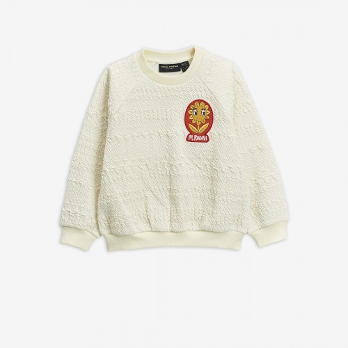 Off White Jacquard Knitted Sweatshirt