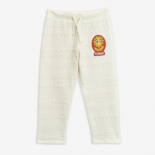 Off White Jacquard Knitted Sweatpants
