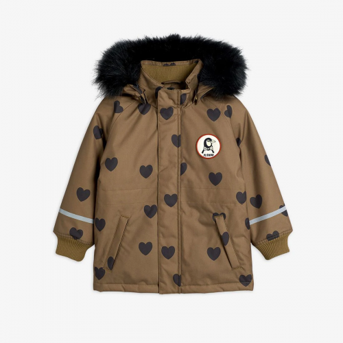 Padded Winter Jacket in Brown