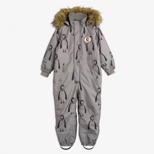 Grey Padded Winter Overall