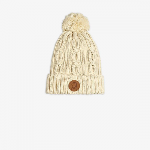Off-White Cable Knitted Beanie