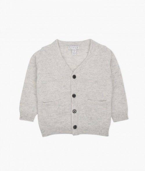 Perfect Grey Cashmere Cardigan