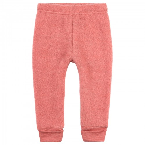 Wool Fleece Pants in Strawberry Melange