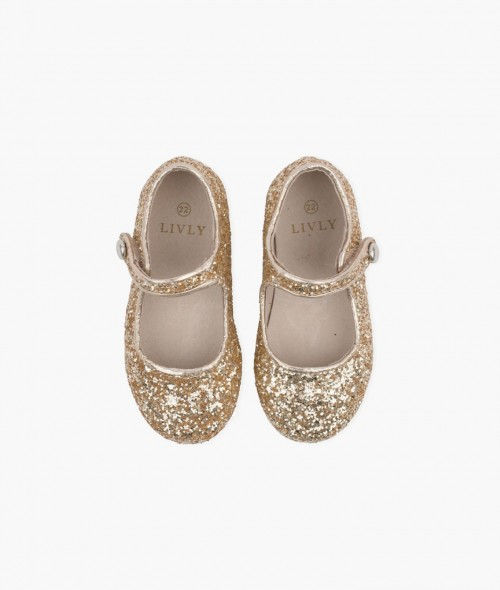 Fashionable Gold Glitter Shoes