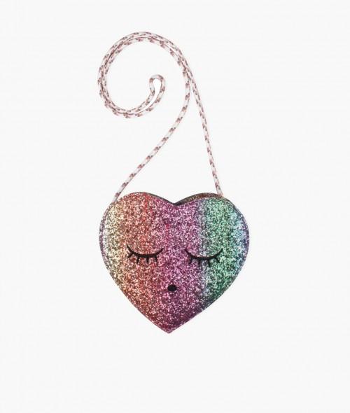 Perfect Heart-Shaped Glitter Bag