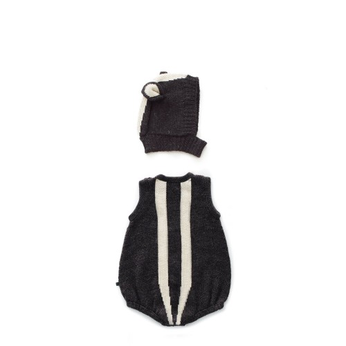 Alpaca Skunk Romper & Hat Set