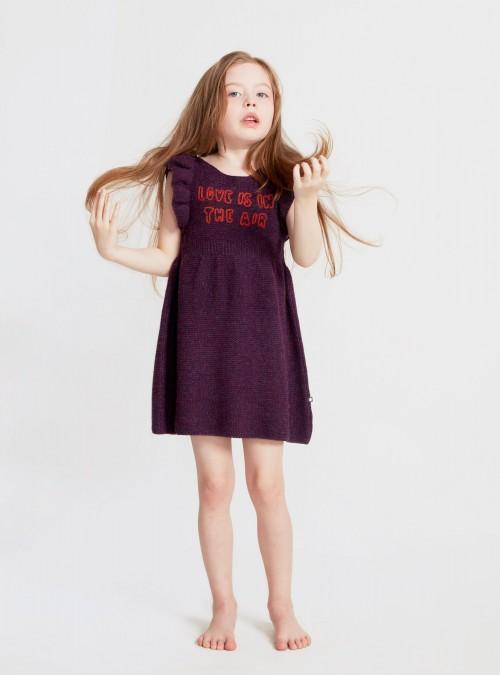 Sweet Knit Ruffle Sleeve Dress