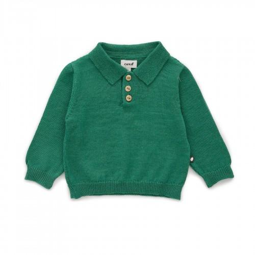 Green Lightweight Knit Polo