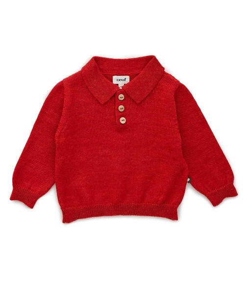 Red Lightweight Knit Polo