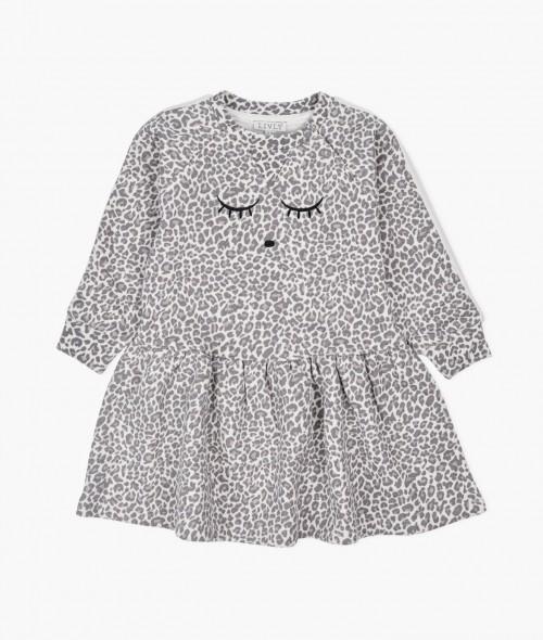 Sweatshirt Dress in Leo Print