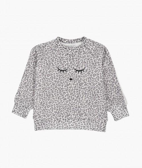 Cozy Sweatshirt in Leo Print