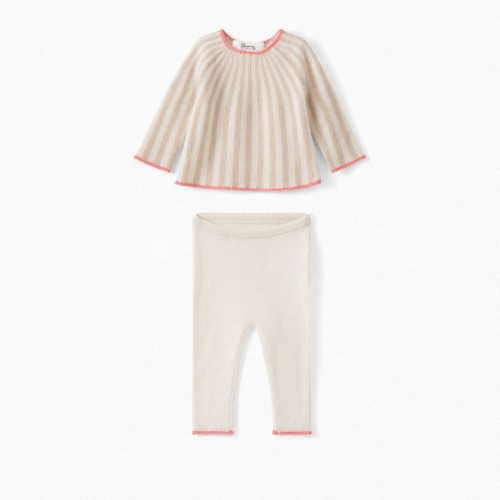 Adorable Baby Striped Cashmere Set