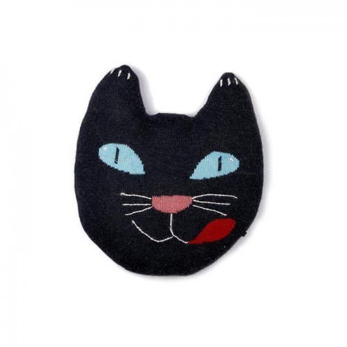 Soft Black Cat Pillow