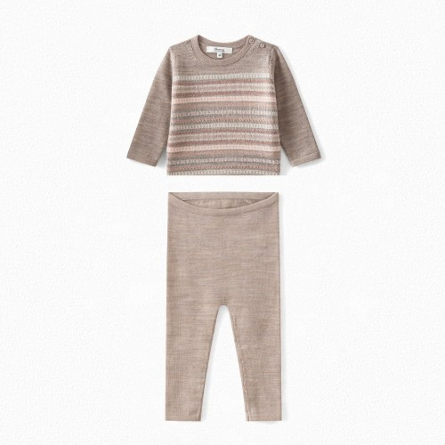 Baby Wool Set in Natural Multicolor