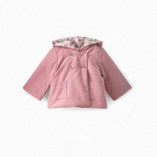 Baby Corduroy Coat in Powdered Rose