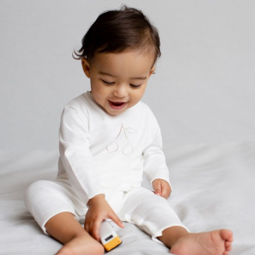 White Cotton Babies' Sleepsuit