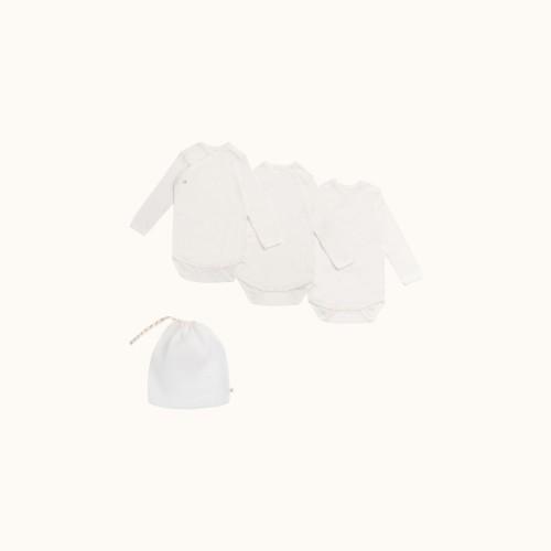 Ecru Organic Cotton Bodysuits