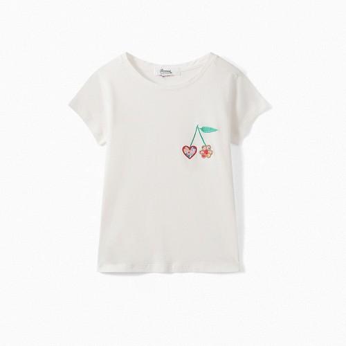 Romantic T-shirt in Milk White