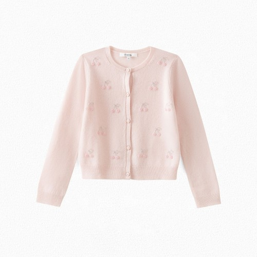 Adorable Cashmere Cardigan in Pale Pink