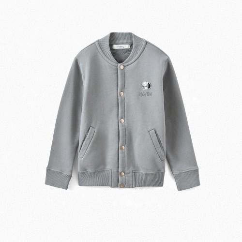 Comfortable Grey Cotton Jacket
