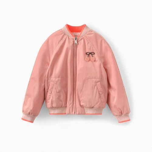 Embroidered Waterproof Jacket in Pink