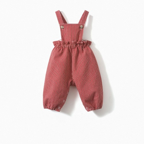 Baby Striped Overalls Tomette