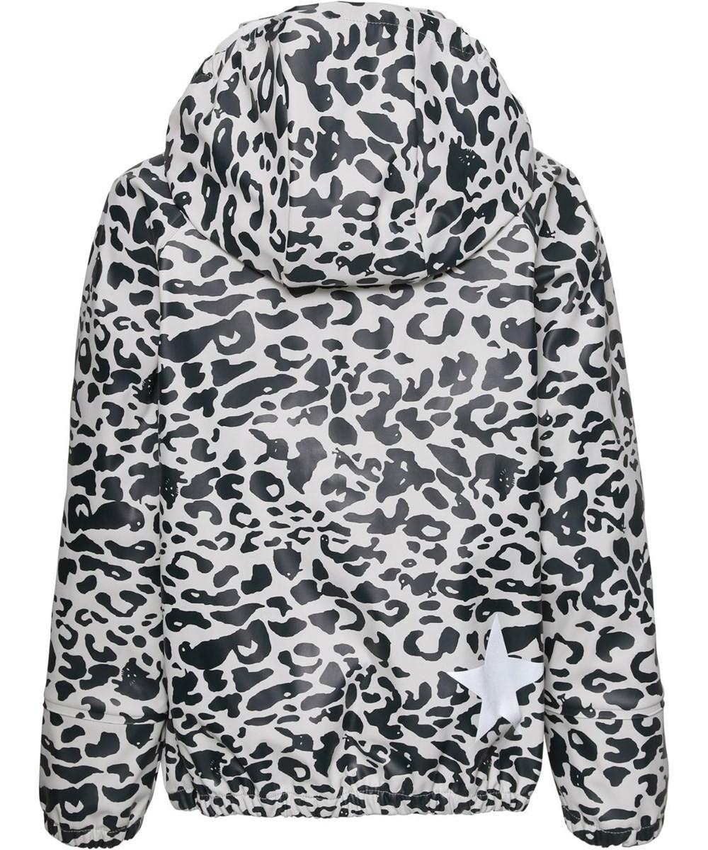 Rainwear Set in Blue and White Leopard Print