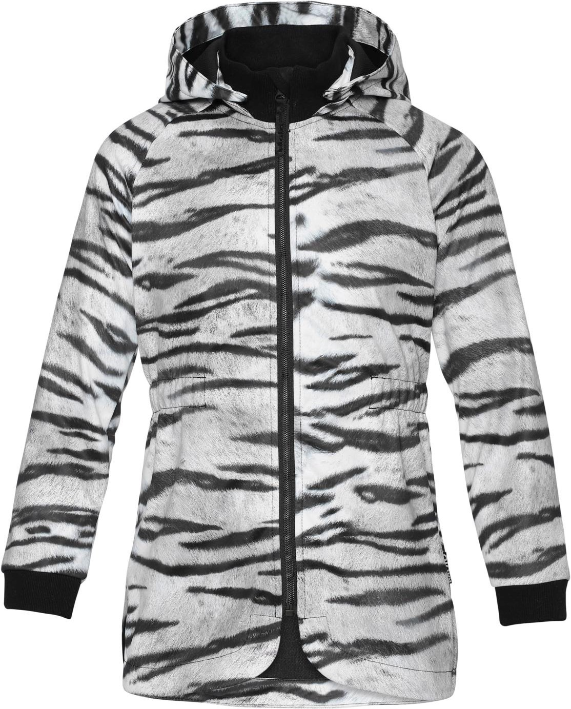 Softshell Jacket in White and Black Tiger Print