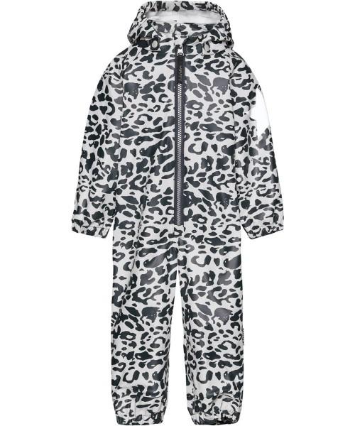 Rain Suit in Dark Blue and White Leopard Print
