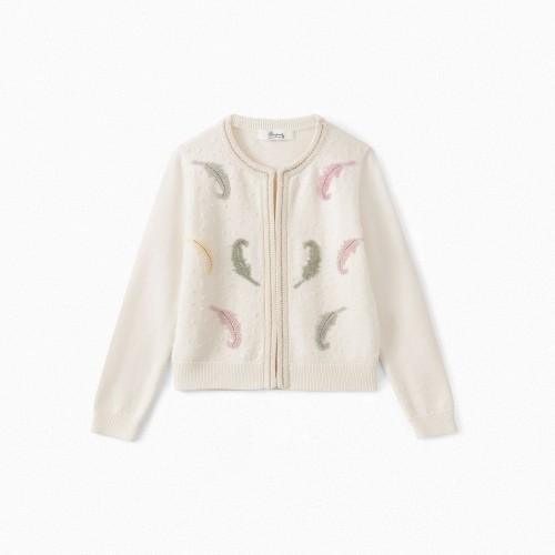 Cute Wool Cardigan in Milk White